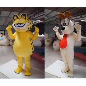 Maskoter Jølle og Pusur, den berømte katten - 2 Pack - MASFR003009 - Garfield Maskoter