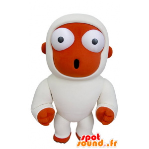 Orange monkey mascot and white with astonishment - MASFR031000 - Mascots monkey
