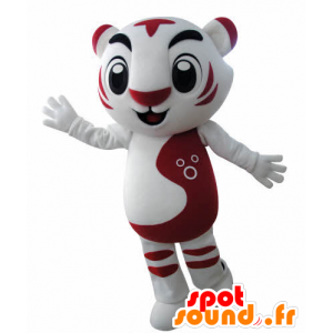 Mascot red and white tiger. feline mascot - MASFR031001 - Tiger mascots