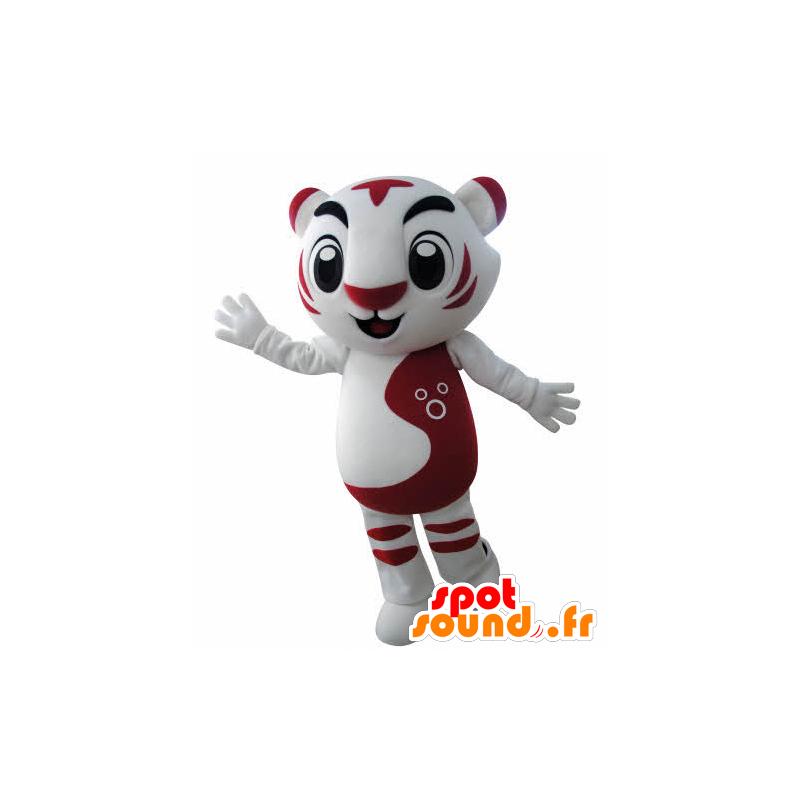 Mascot red and white tiger. feline mascot - MASFR031001 - Tiger mascots