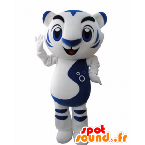 Mascot white and blue tiger. feline mascot - MASFR031002 - Tiger mascots