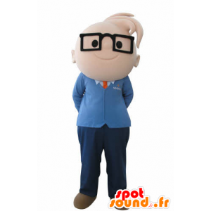 Mascotte de garçon avec des lunettes. Mascotte d'ingénieur - MASFR031008 - Mascottes Garçons et Filles