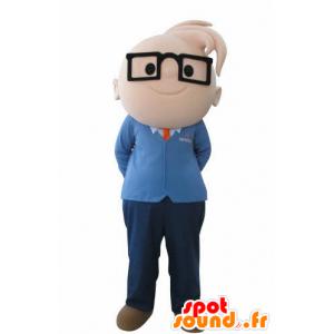 Maskot chlapec s brýlemi. inženýr Maskot - MASFR031008 - Maskoti chlapci a dívky