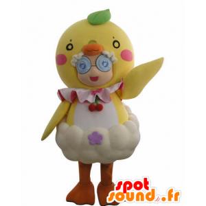Mascot Mädchen in riesigen Küken verkleidet - MASFR031011 - Maskottchen-jungen und Mädchen