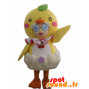 Mascot girl disguised in giant chick - MASFR031011 - Mascots boys and girls