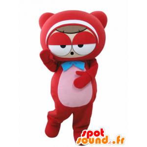 Mascotte de bonhomme rouge, de nounours, très rigolo - MASFR031012 - Mascottes Homme