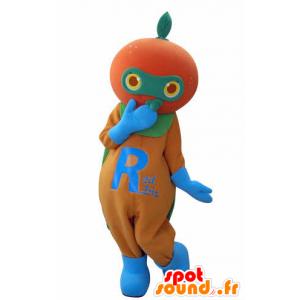 Mascotte de mandarine, d'orange géante - MASFR031017 - Mascotte de fruits