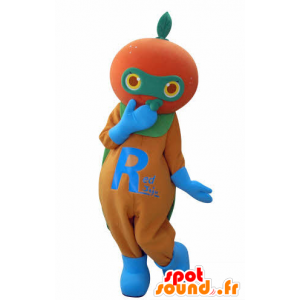 Tangerine mascot, giant orange - MASFR031017 - Fruit mascot