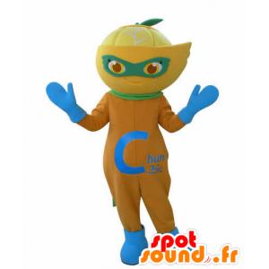 Maskotka pomarańczowy, cytrynowy, Clementine - MASFR031018 - owoce Mascot