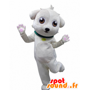 White dog mascot, sweet and cute - MASFR031020 - Dog mascots