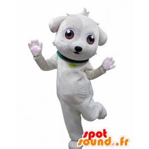Mascote cão branco, doce e bonito - MASFR031020 - Mascotes cão