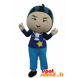 Mascotte de bonhomme avec une pastèque sur la tête - MASFR031022 - Mascottes Homme