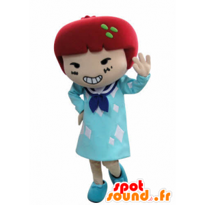 Mascot kleding meisje met rood haar - MASFR031023 - Mascottes Boys and Girls