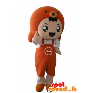 Mascotte Ragazzo con un grembiule e un pesce - MASFR031025 - Ragazze e ragazzi di mascotte