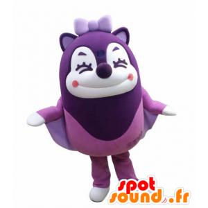 Mascot violetti Liito-orava ilmassa nauraen - MASFR031030 - maskotteja orava