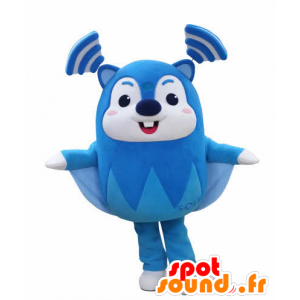 Blue flying squirrel mascot and white, very funny - MASFR031031 - Mascots squirrel