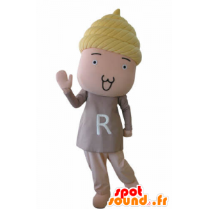 Snowman mascot of baby with blonde hair - MASFR031034 - Human mascots