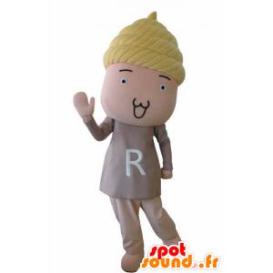 Sněhulák maskotem dítě s blond vlasy - MASFR031034 - Man Maskoti