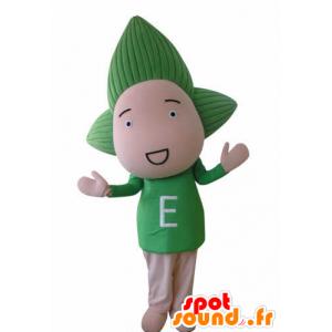 Panenka maskotem dítě se zelenými vlasy - MASFR031036 - Neutajované Maskoti