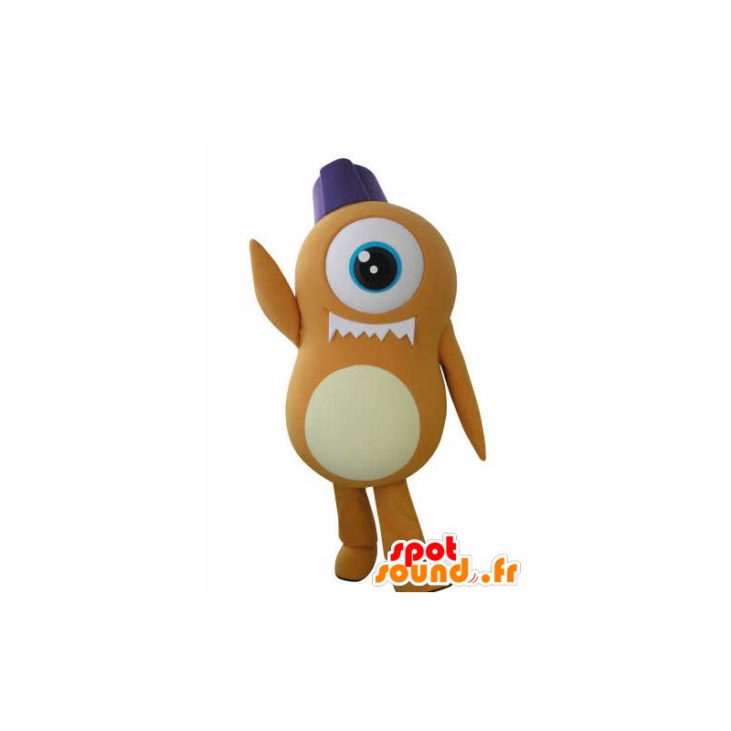 Mascot fremmed oransje Cyclops - MASFR031045 - utdødde dyr Maskoter