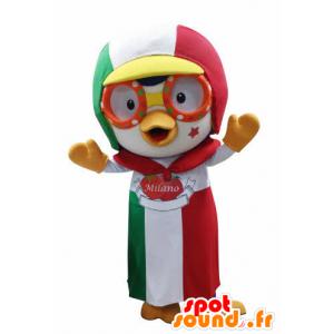 Mascotte dell'uccello con un cappello e grembiule - MASFR031049 - Mascotte degli uccelli
