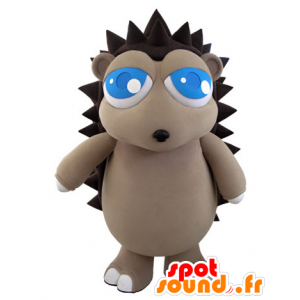 Mascot gray and brown hedgehog with pretty blue eyes - MASFR031062 - Mascots Hedgehog
