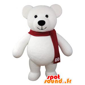 Μασκότ Teddy λευκό γεμιστές γίγαντα - MASFR031067 - Αρκούδα μασκότ