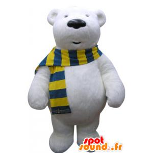 Mascotte d'ours blanc. Mascotte d'ours polaire - MASFR031069 - Mascotte d'ours