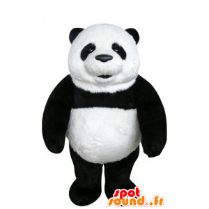 Mascotte e nero del panda bianco, bello e realistico - MASFR031070 - Mascotte di Panda