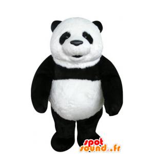 Mascot svart og hvit panda, vakker og realistisk - MASFR031070 - Mascot pandaer