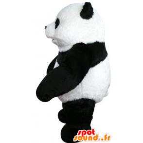 Mascot schwarzen und weißen Panda, schön und realistisch - MASFR031070 - Maskottchen der pandas