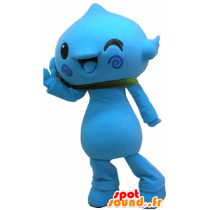 Blue snowman mascot. Mascot blue flower - MASFR031080 - Human mascots