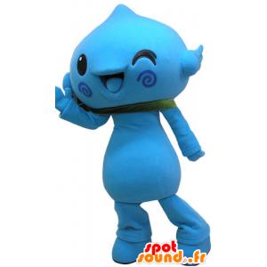 Blauwe sneeuw pop mascotte. Mascot blauwe bloem - MASFR031080 - man Mascottes