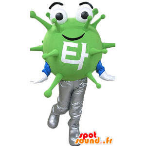 Green mascot microbe virus. extraterrestrial mascot - MASFR031083 - Missing animal mascots