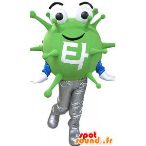 Mascotte de microbe vert, de virus. Mascotte d'extra-terrestre - MASFR031083 - Mascottes animaux disparus