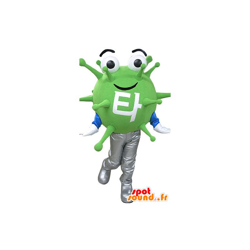 Maskot grønn mikrobe virus. utenomjordisk maskot - MASFR031083 - utdødde dyr Maskoter
