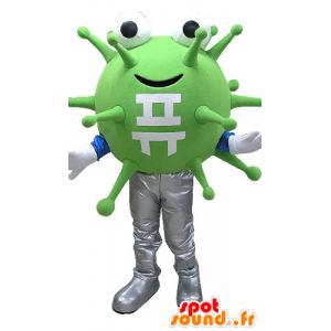 Maskot grønne bakterier, virus. utenomjordisk maskot