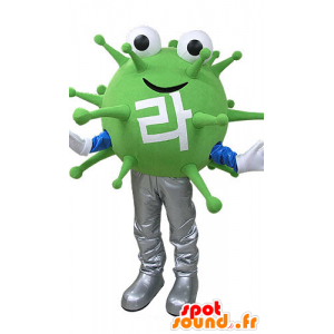 Mascot green monster virus. extraterrestrial mascot - MASFR031085 - Monsters mascots