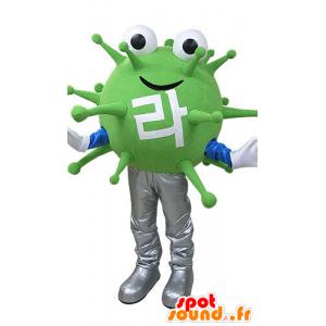 Mascot vírus monstro verde. mascote extraterrestre - MASFR031085 - mascotes monstros