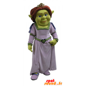 Fiona mascot, famous woman of Shrek, the green ogre