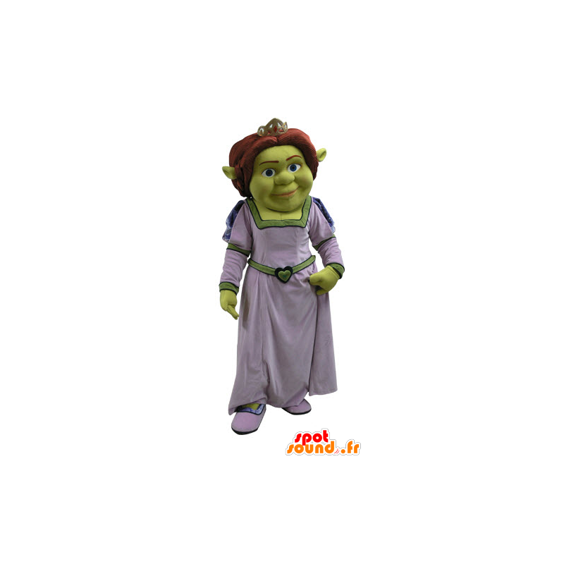 Fiona maskot, berømt kvinne av Shrek, det grønne trollet - MASFR031087 - Shrek Maskoter