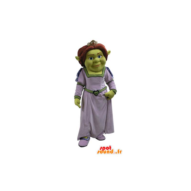 Fiona maskotti, kuuluisa nainen Shrek, vihreä peikko - MASFR031087 - Shrek Maskotteja
