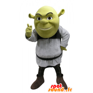 Shrek mascote, famoso desenho animado ogro verde