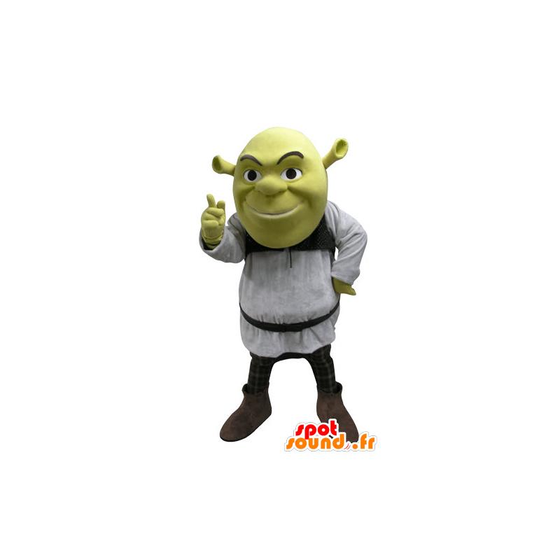 Shrek maskot, berømt tegneserie grøn ogre - Spotsound maskot