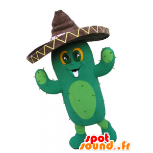 Giant cactus with a sombrero mascot - MASFR031094 - Mascots of plants