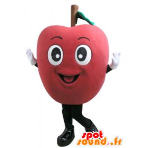 γιγαντιαίο κόκκινο μασκότ μήλο. μασκότ φρούτα - MASFR031105 - φρούτων μασκότ