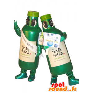 2 mascots green bottles. 2 bottles of mascots - MASFR031107 - Mascots of objects