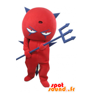 Mascota del diablo rojo y azul. Mascot imp - MASFR031112 - Mascotas sin clasificar