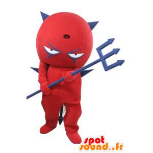 Mascotte de diable rouge et bleu. Mascotte de diablotin - MASFR031112 - Mascottes non-classées