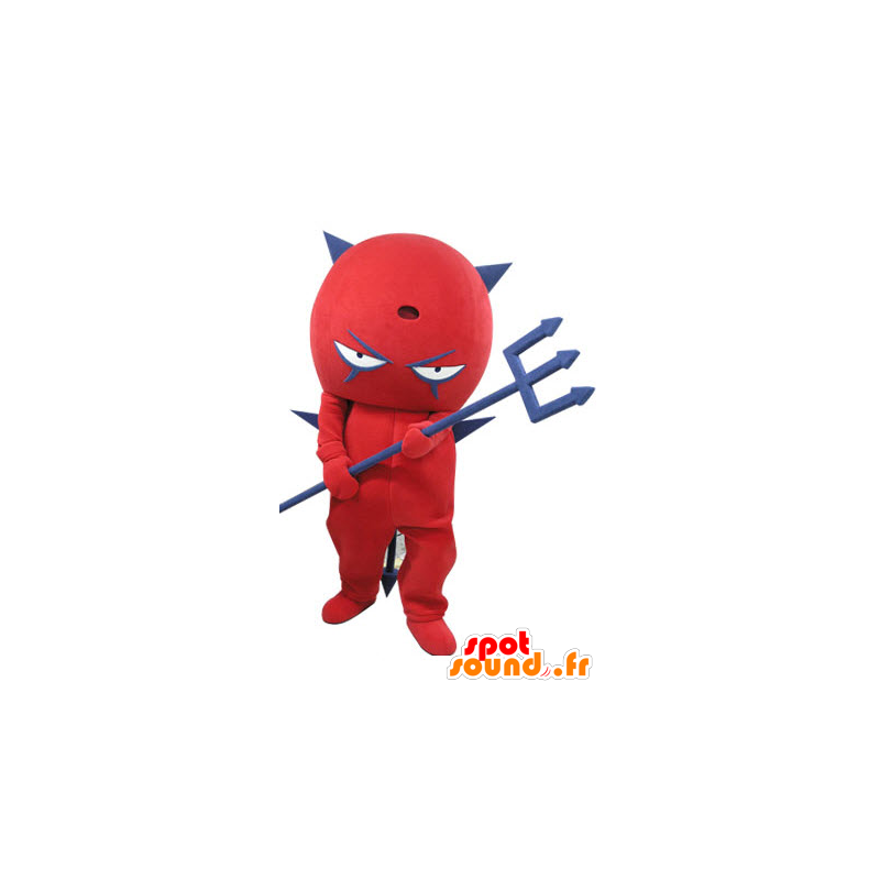 Mascot rood en blauw duivel. Mascot imp - MASFR031112 - Niet-ingedeelde Mascottes